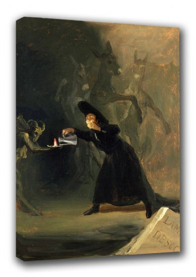 Goya, Francisco de: A Scene from 'El Hechizado por Fuerza' (The Forcibly Bewitched). Fine Art Canvas. Sizes: A3/A2/A1 (00122)